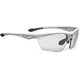 Rudy Project Stratofly Okulary rowerowe, white carbon - impactx photochromic 2 black